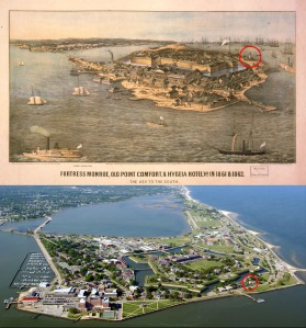 Ft Monroe Now and Then